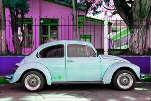 "¡Viva Mexico! Collection - ""Summer Blue Car"" VW Beetle by Philippe Hugonnard"