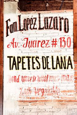 "¡Viva Mexico! Collection - ""Tapetes de Lana"" Mexican Sign II by Philippe Hugonnard"