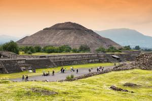 ¡Viva Mexico! Collection - Teotihuacan Pyramids II by Philippe Hugonnard