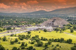 ¡Viva Mexico! Collection - Teotihuacan Pyramids V by Philippe Hugonnard