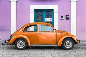 ¡Viva Mexico! Collection - The Orange VW Beetle Car with Thistle Street Wall by Philippe Hugonnard