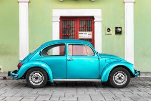?Viva Mexico! Collection - The Turquoise VW Beetle Car with Lime Green Street Wall by Philippe Hugonnard