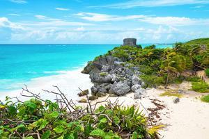 ¡Viva Mexico! Collection - Tulum Ruins along Caribbean Coastline IV by Philippe Hugonnard