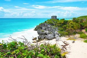 ¡Viva Mexico! Collection - Tulum Ruins along Caribbean Coastline IV by Philippe Hugonnard