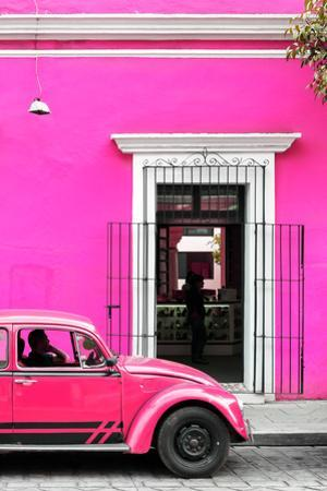 ¡Viva Mexico! Collection - Volkswagen Beetle Car - Deep & Hot Pink by Philippe Hugonnard