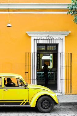 ¡Viva Mexico! Collection - Volkswagen Beetle Car - Gold & Yellow by Philippe Hugonnard