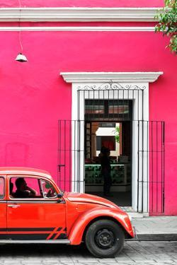 ¡Viva Mexico! Collection - Volkswagen Beetle Car - Pink & Red by Philippe Hugonnard
