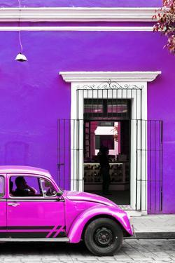 ¡Viva Mexico! Collection - Volkswagen Beetle Car - Purple & Deep Pink by Philippe Hugonnard