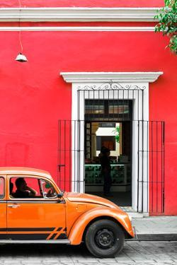 ¡Viva Mexico! Collection - Volkswagen Beetle Car - Red & Orange by Philippe Hugonnard