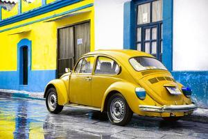 ¡Viva Mexico! Collection - VW Beetle and Yellow Wall by Philippe Hugonnard