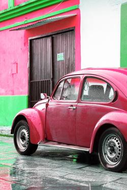 ¡Viva Mexico! Collection - VW Beetle Car and Deep Pink Wall by Philippe Hugonnard