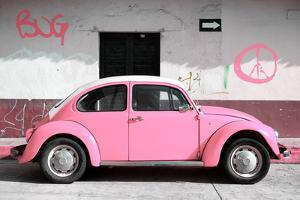 ¡Viva Mexico! Collection - VW Beetle Car and Light Pink Graffiti by Philippe Hugonnard
