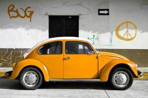 ?Viva Mexico! Collection - VW Beetle Car and Orange Graffiti by Philippe Hugonnard