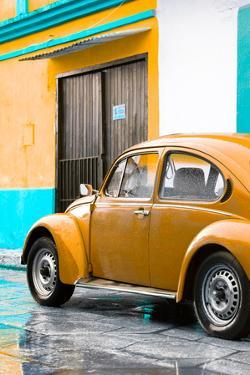 ¡Viva Mexico! Collection - VW Beetle Car and Orange Wall by Philippe Hugonnard