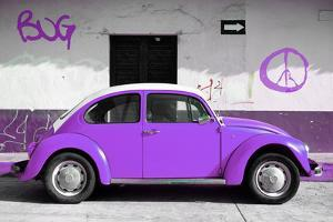 ¡Viva Mexico! Collection - VW Beetle Car and Purple Graffiti by Philippe Hugonnard
