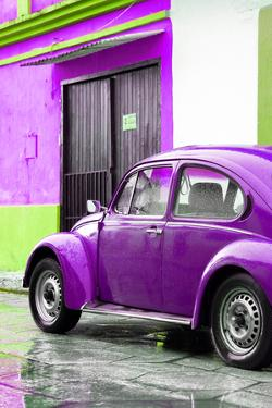 ¡Viva Mexico! Collection - VW Beetle Car and Purple Wall by Philippe Hugonnard