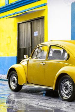 ¡Viva Mexico! Collection - VW Beetle Car and Yellow Wall by Philippe Hugonnard