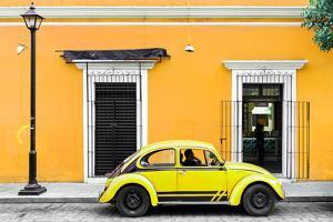 ¡Viva Mexico! Collection - VW Beetle Car - Gold & Yellow by Philippe Hugonnard