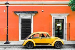 ¡Viva Mexico! Collection - VW Beetle Car - Orange & Gold by Philippe Hugonnard