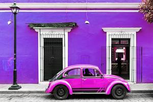 ¡Viva Mexico! Collection - VW Beetle Car - Purple & Deep Pink by Philippe Hugonnard