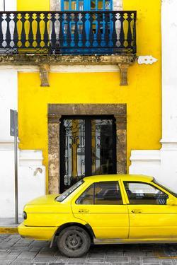 ¡Viva Mexico! Collection - Yellow Car in Campeche III by Philippe Hugonnard