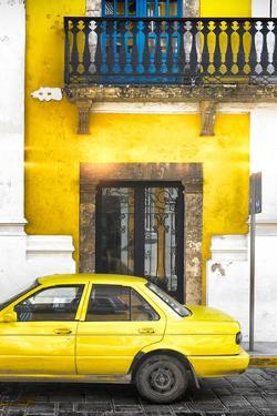 ¡Viva Mexico! Collection - Yellow Car in Campeche IV by Philippe Hugonnard