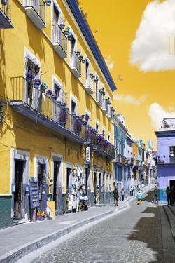 ?Viva Mexico! Collection - Yellow Street Scene - Guanajuato by Philippe Hugonnard