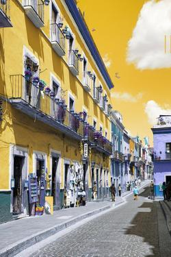 ?Viva Mexico! Collection - Yellow Street Scene - Guanajuato by Philippe Hugonnard
