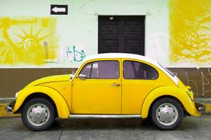¡Viva Mexico! Collection - Yellow VW Beetle Car and American Graffiti by Philippe Hugonnard
