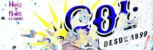 ¡Viva Mexico! Panoramic Collection - Blue SOL Sign Street Wall by Philippe Hugonnard