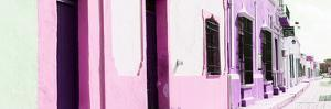 ¡Viva Mexico! Panoramic Collection - Campeche Colorful Street II by Philippe Hugonnard