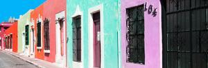 ¡Viva Mexico! Panoramic Collection - Campeche Colorful Street VI by Philippe Hugonnard