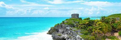 ¡Viva Mexico! Panoramic Collection - Caribbean Coastline in Tulum IX by Philippe Hugonnard