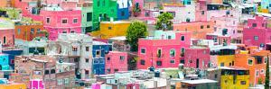 ¡Viva Mexico! Panoramic Collection - Colorful Cityscape Guanajuato IV by Philippe Hugonnard