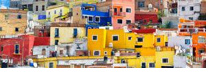 ¡Viva Mexico! Panoramic Collection - Colorful Cityscape Guanajuato IX by Philippe Hugonnard