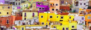 ¡Viva Mexico! Panoramic Collection - Colorful Cityscape Guanajuato XI by Philippe Hugonnard