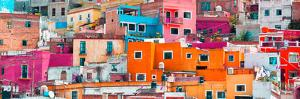 ¡Viva Mexico! Panoramic Collection - Colorful Cityscape Guanajuato XIII by Philippe Hugonnard