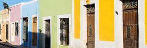 ¡Viva Mexico! Panoramic Collection - Colorful Street Campeche by Philippe Hugonnard