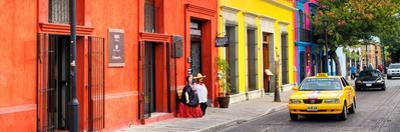 ¡Viva Mexico! Panoramic Collection - Colorful Street in Oaxaca VII by Philippe Hugonnard