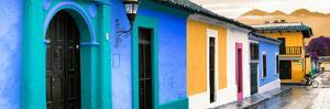 ¡Viva Mexico! Panoramic Collection - Colorful Street Scene San Cristobal de Las Casas II by Philippe Hugonnard