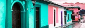 ¡Viva Mexico! Panoramic Collection - Colorful Street Scene San Cristobal de Las Casas III by Philippe Hugonnard