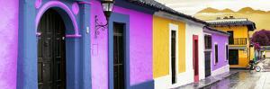 ¡Viva Mexico! Panoramic Collection - Colorful Street Scene San Cristobal de Las Casas IV by Philippe Hugonnard