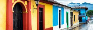 ¡Viva Mexico! Panoramic Collection - Colorful Street Scene San Cristobal de Las Casas by Philippe Hugonnard