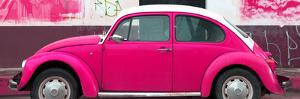 ¡Viva Mexico! Panoramic Collection - Deep Pink VW Beetle by Philippe Hugonnard