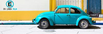 "¡Viva Mexico! Panoramic Collection - ""En Linea Roja"" Blue VW Beetle Car by Philippe Hugonnard"