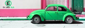 "¡Viva Mexico! Panoramic Collection - ""En Linea Roja"" Green VW Beetle Car by Philippe Hugonnard"