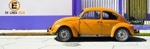 "¡Viva Mexico! Panoramic Collection - ""En Linea Roja"" Orange VW Beetle Car by Philippe Hugonnard"