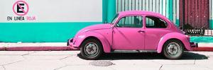 "¡Viva Mexico! Panoramic Collection - ""En Linea Roja"" Pink VW Beetle Car by Philippe Hugonnard"