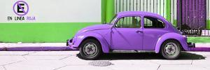 """¡Viva Mexico! Panoramic Collection - """"En Linea Roja"""" Purple VW Beetle Car by Philippe Hugonnard"""