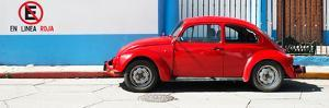 "¡Viva Mexico! Panoramic Collection - ""En Linea Roja"" Red VW Beetle Car by Philippe Hugonnard"